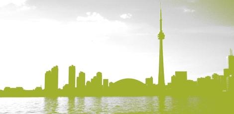 green toronto skyline